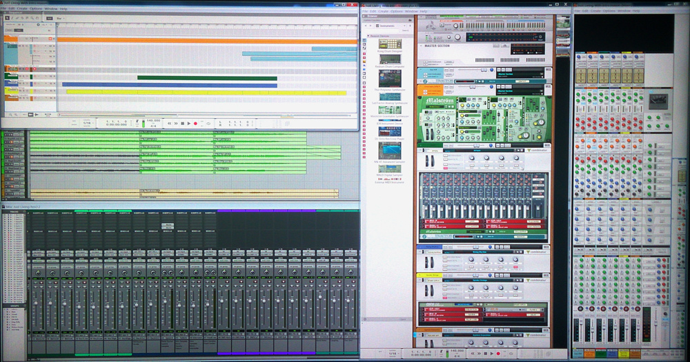 ProTools and Reason Windows